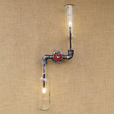 交流220〜240 6 E27は電球includedambient光壁の燭台壁の光のために素朴な/ロッジ真鍮機能をbgb005
