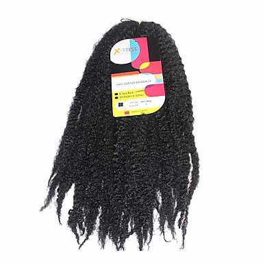 Hæklet 100% kanekalon hår 1 Forhæklede fletninger Hårfletninger