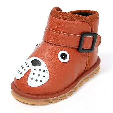 Para Meninas sapatos Couro Ecológico Outono Inverno Conforto Botas Caminhada Para Casual Preto Marron Vermelho