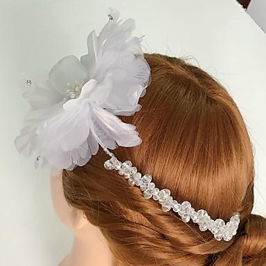 Vrouwen Tule Licht Metaal Acryl Helm-Bruiloft Speciale gelegenheden Informeel Bloemen 1 Stuk