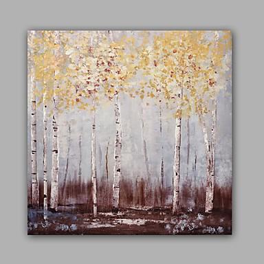 Hang malte oljemaleri Håndmalte - Blomstret / Botanisk Klassisk Moderne Inkluder indre ramme / Stretched Canvas