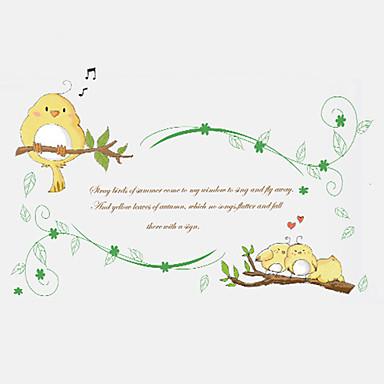 Decalque Autocolantes de Parede Decorativos - Etiquetas de parede de palavras e citações Moda Palavras e Citações Botânico Removível