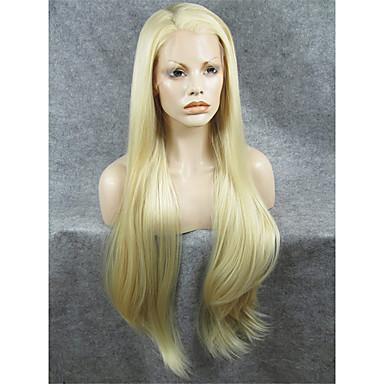 Pruik Lace Front Synthetisch Haar Recht Dames Kanten Voorkant Carnaval Pruik Halloween Pruik Kanten pruik Synthetisch haar