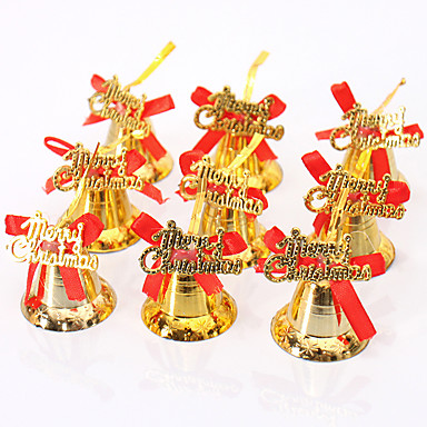 9pcs joulukoristeen koristeet joulukuusen koriste hohde kulta riippuva kelloja bowknot DIY hyvää joulua