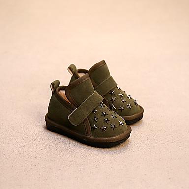 女の子 赤ちゃん ブーツ コンフォートシューズ スエード カジュアル コンフォートシューズ ブラック イエロー レッド グリーン 1インチ以下