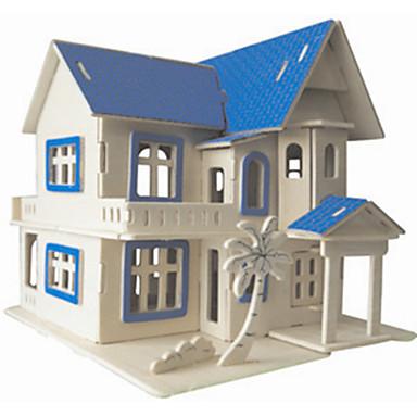 ジグソーパズル ウッドパズル ビルディングブロック DIYのおもちゃ 城 1 ウッド クリスタル