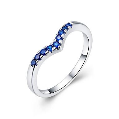Dame Ring - Zirkonium, Kubisk Zirkonium, Kobber Dråpe Mote 8 Sølv Til Bryllup / Fest / Daglig / Sølvplett / Sølvplett