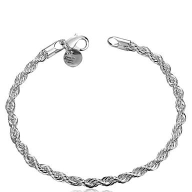 abordables Bracelet-Chaînes Bracelets Femme dames unique Classique Basique Mode Bracelet Bijoux Argent pour Mariage Soirée Quotidien Décontracté