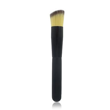 Professionel Make-up pensler Foundationbørste 1pcs Bærbar Professionel Kunstig Fiber Børste Træ Makeupbørster til