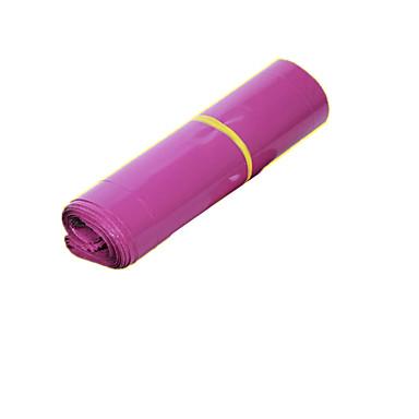 赤紫色の防水特急袋サイズ25 * 39センチメートル(100の束)