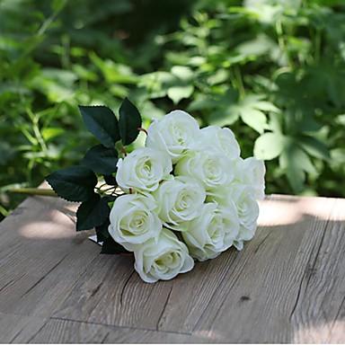 Flores artificiais 1 Ramo Estilo simples Rosas Flor de Mesa