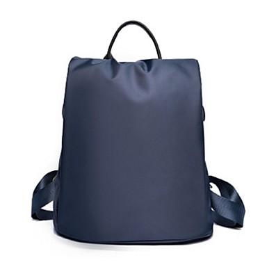 女性 バックパック オックスフォード カジュアル ブラック パープル フクシャ レッド ブルー