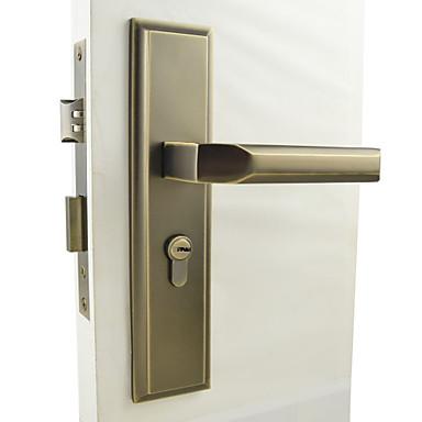 antigua cerradura de la puerta de latón, bloqueo de la palanca, con manillas, palanca de la puerta con 3 llaves