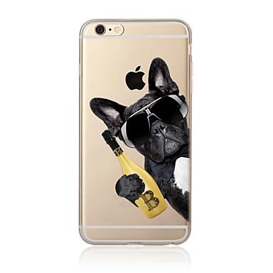 ケース 用途 Apple iPhone X iPhone 8 Plus iPhone 7 iPhone 6 iPhone 5ケース 半透明 パターン バックカバー 犬 ソフト TPU のために iPhone X iPhone 8 Plus iPhone 8 iPhone