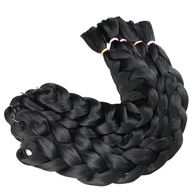 저렴한 헤어 브레이드-땋은 머리 박스 브레이드 점보 브레이드 100 % 카네 칼론 머리카락 / Kanekalon 3 뿌리 헤어 드리다 옴브레 땋은머리