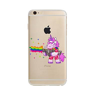 hoesje Voor Apple iPhone X iPhone 8 Plus iPhone 7 iPhone 6 iPhone 5 hoesje Doorzichtig Patroon Achterkantje Eenhoorn Zacht TPU voor