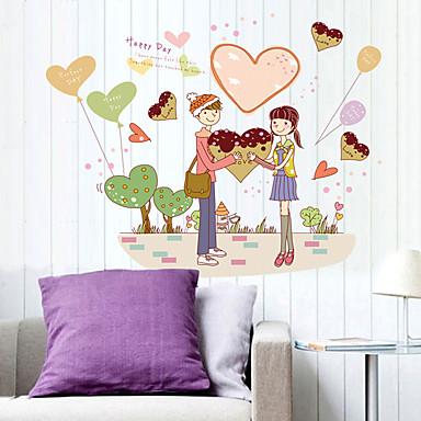 Romance / Moda / Pessoas Wall Stickers Autocolantes de Aviões para Parede Autocolantes de Parede Decorativos,PVC Material Removível