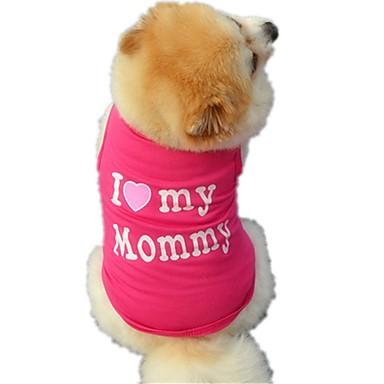 Kat Hund Trøye/T-skjorte Vest Hundeklær Bokstav & Nummer Svart Rose Bomull Kostume For kjæledyr Herre Dame Søtt Fritid/hverdag Ferie