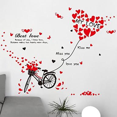 Woorden en Citaten / Romantiek / Mode Wall Stickers Vliegtuig Muurstickers Decoratieve Muurstickers,PVC Materiaal Verwijderbaar