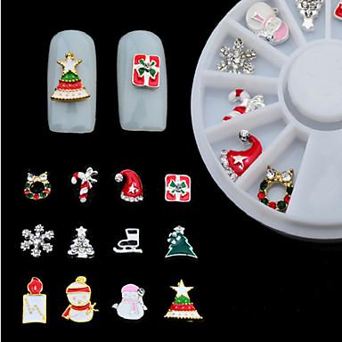 1 pcs Jóias de unha / Kits de decoração Nail Art Design Glitters / Metálico / Fashion Adorável Diário