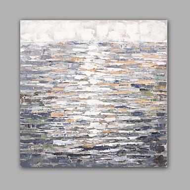 Hang-Painted Oliemaleri Hånd malede - Abstrakt Klassisk / Moderne Lærred / Stretched Canvas