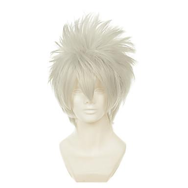 Synthetische Perücken / Perücken Glatt Blond Synthetische Haare Blond Perücke Damen Kappenlos