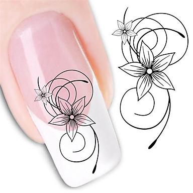 1 pcs Vandoverførings klistermærke Negle kunst Manicure Pedicure Mode Daglig
