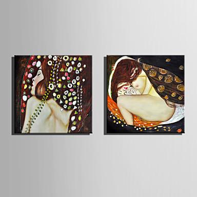 canvas Set Transparente / Retratos Abstratos Estilo Europeu,2 Painéis Tela Quadrangular Impressão artística wall Decor For Decoração para