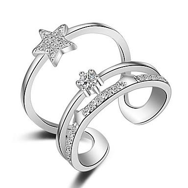 Damen Übergang Bandring / Knöchel-Ring - Roségold, Sterling Silber Modisch Eine Größe Silber / Golden Für Hochzeit / Party / Alltag