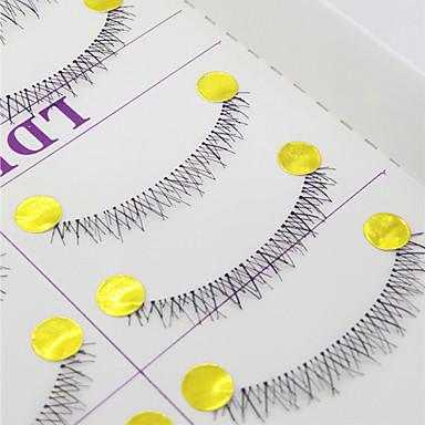 Pestañas Pestaña / Pestañas Postizas 20 pcs Ojo Denso / Rizado / Extra largo 0.1 mm Pestañas Inferiores / Entrecruzadas Fibra Transparent Band