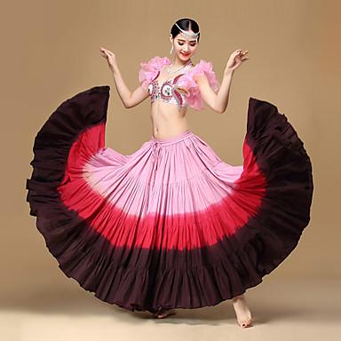 ベリーダンス ボトムズ ダンスパフォーマンス コットン プリーツ 1個 ローウエスト スカート
