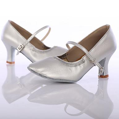 9e626f1058 Női Tánccipők Szintetikus Magassarkúk Személyre szabott sarok Személyre  szabható Dance Shoes Fekete / Ezüst / Barna / Otthoni