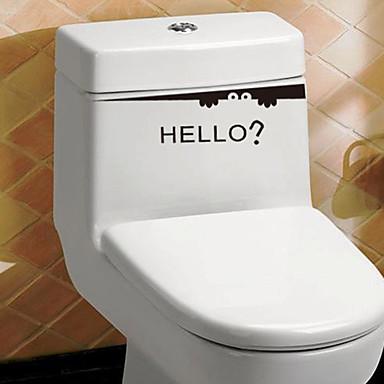 Autocolantes de Banheiro - Etiquetas de parede de palavras e citações Vida Imóvel / Moda / Palavras e Citações Sala de Estar / Banheiro /