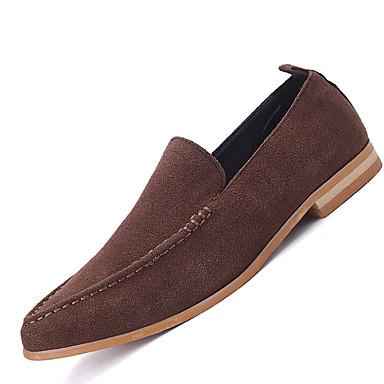 Masculino sapatos Camurça Primavera Verão Outono Inverno Conforto Mocassins e Slip-Ons Para Casual Preto Marron Verde Azul