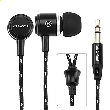 AWEI Q35 No ouvido Com Fio Fones Aluminum Alloy Esporte e Fitness Fone de ouvido Com Microfone Fone de ouvido