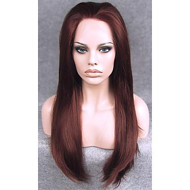 24inch Auburn Silk Straight Soft High Heat Resistant Syntheitc Wig