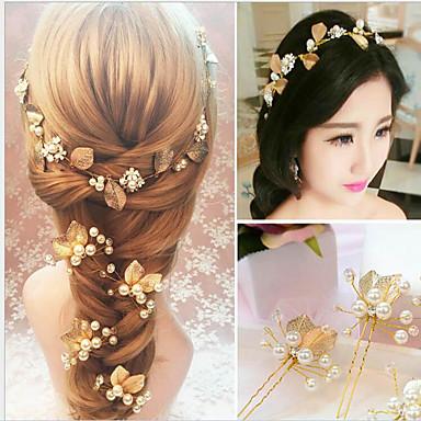 Pérola Headbands Presilha de cabelo 1 Casamento Ocasião Especial Capacete