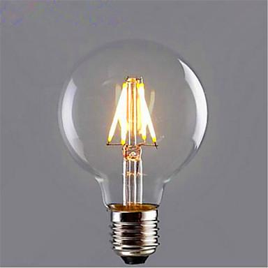 1pc 6 W 500 lm E26 / E27 LED Glühlampen G95 6 LED-Perlen COB Dekorativ Warmes Weiß / Gelb 220-240 V / 1 Stück / RoHs
