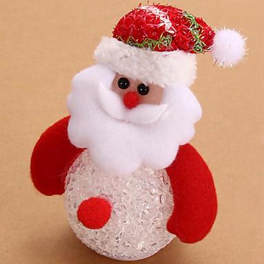 素敵な雪だるまサンタクロースが子供のための夜の光デスク人形クリスマスツリーのペンダント装飾テーブル発光ランプ常夜灯を主導(スタイルランダム)