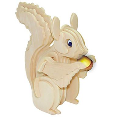 Quebra-Cabeças de Madeira Esquilo Nível Profissional De madeira 1pcs Crianças Para Meninos Dom