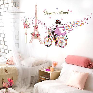 Mennesker Still Life Romantik Veggklistremerker Fly vægklistermærker Veggklistremerker i Speilstil Dekorative Mur Klistermærker Hjem Dekor