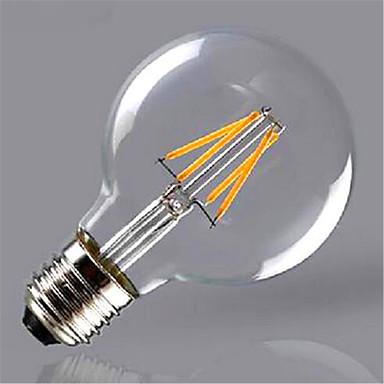 1pc 4 W 350 lm E26 / E27 LED Glühlampen G125 4 LED-Perlen COB Dekorativ Warmes Weiß / Gelb 220-240 V / 1 Stück / RoHs