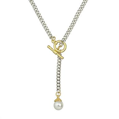Mujer Collares con colgantes / Collares de cadena / Collar con perlas - Perla Moda Negro, Plata 49 cm Gargantillas Para Fiesta, Diario, Casual