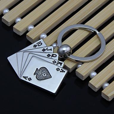 voordelige Auto-interieur accessoires-good luck poker flush sleutelhanger metalen creatieve auto mannen 's key accessoires