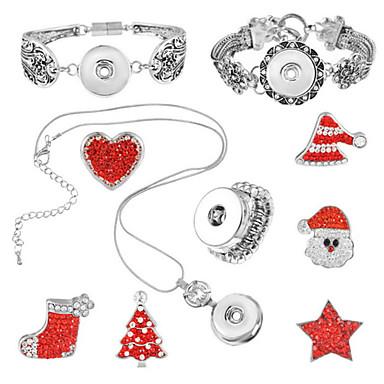 女性 ジュエリーセット 幸福 クリスマス ハート 1×ネックレス 1×ブレスレット リング 1×パッケージ 用途 Halloween 日常 ウェディングギフト