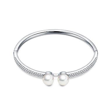 Dame Jenter´ Armringer Mansjettarmbånd Zirkonium Skall Enkel Stil Sølv Smykker 1 stk