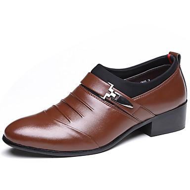 Hombre Zapatos Semicuero Primavera / Otoño Botas de Moda / Confort Oxfords  Negro / Marrón