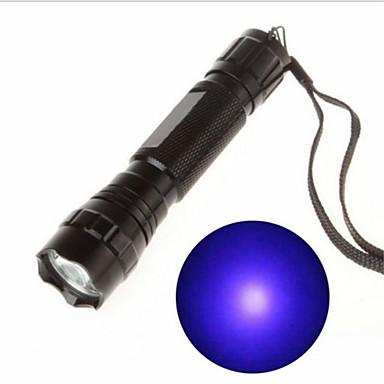 رخيصةأون المصابيح اليدوية وفوانيس الإضاءة للتخييم-أضواء فلاش ضوء أسود LED - 1 بواعث 130 lm 1 إضاءة الوضع قابلة لإعادة الشحن الأشعة فوق البنفسجية الخفيفة Camping / Hiking / Caving أخضر السفر