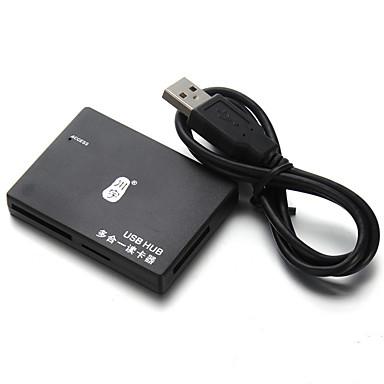 Kawau USB-keskitin kortinlukija USB2.0 * 3 Micro SD-kortti / SD-kortti / muisti sitck