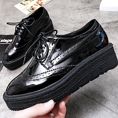 Oxford-kengätNaisten-PU-Musta-Rento-Comfort